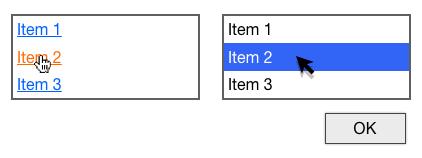 Selection vs Single Click