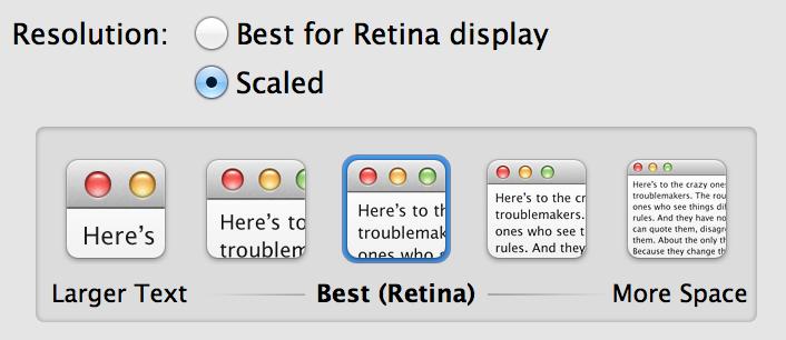 Retina Control