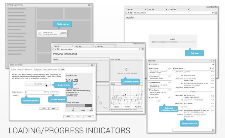 Loading and Progress Indicators
