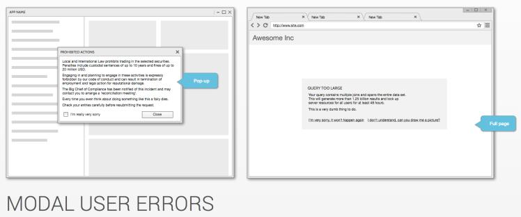 Modal User Errors