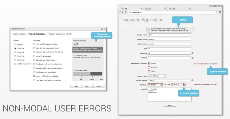 Non-Modal User Errors