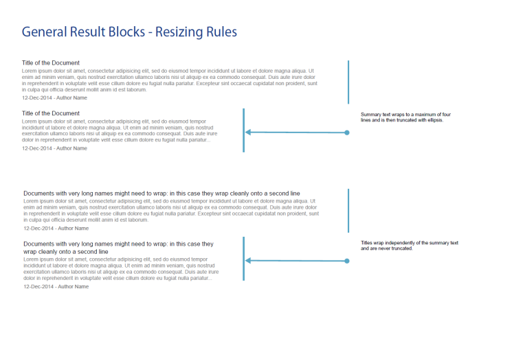 General Result Blocks - Resizing Rules